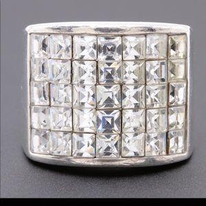 sterling silver foil back ring